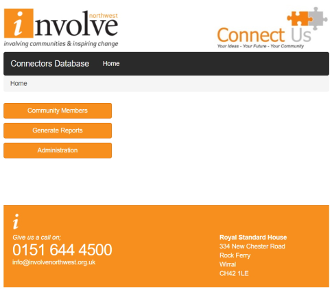 Involve Northwest CRM Home Page